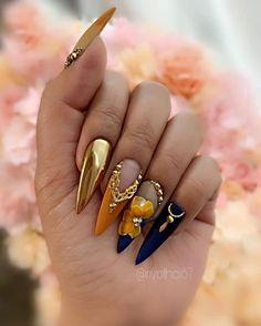 Popular Acrylic Stiletto Nails Designs That Will Catch Your .- Popular Acrylic Stiletto Nails Designs That Will Catch Your Mind – Septor Planet - Glam Nails, 3d Nails, Stiletto Nails, Coffin Nails, Stiletto Nail Designs, Nail Nail, Cute Acrylic Nails, Cute Nails, Pretty Nails