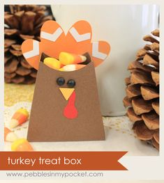This Thanksgiving paper craft is such a cute treat bag. Give one to each person at your Thanksgiving celebration.