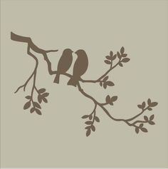bird on branch stencil - Google Search