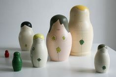 Scottish Gifts - Fig Leaf Russian Dolls by Allistair - Designer, from Papa Stour