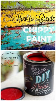 How to, Chippy Paint finish AKA Boat wood look with Chalk and Clay paint