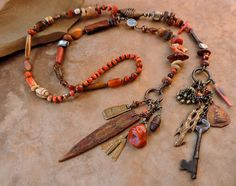 RESERVED Spirit Beads Lariat Necklace for by DesertTalismans