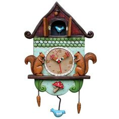 Whimsical Clocks with cat, dog, farm and more sweet critter themes.
