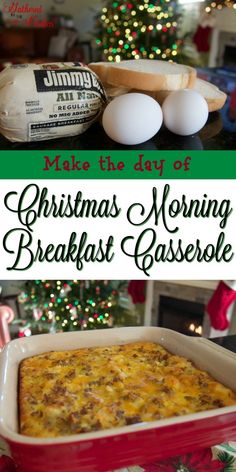 Christmas Morning Breakfast Casserole - make the morning of or chill in the fridge the night before!