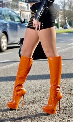 High Top Boots, Hot High Heels, Sexy Heels, High Heel Boots, Knee Boots, Stiletto Heels, Sexy Boots, Cool Boots, Leder Boots