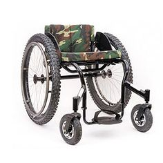 "The Invacare® Top End® Crossfire™ All Terrain Wheelchair is the monster truck of wheelchairs that is designed to leave some serious tracks. Do you like to hike, fish, camp, hunt, kayak, garden or go to the beach? You can do it all with the Crossfire™ All Terrain Wheelchair. It is built of 6061T6 aluminum and equipped with enormous 25"" x 2.75"" knobby wheels and huge 8"" x 2"" front casters for extreme traction. Engineered with mega ground clearance, plus forward and side-to-side stability..."