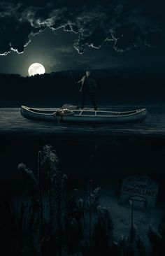 Friday the - Return To Camp Crystal Lake His name was Jason ,.there is a crystal lake near scary place to camp Jason Friday, Friday The 13th, Horror Artwork, Creepy Horror, Classic Movie Posters, Scary Places, Jason Voorhees, Classic Monsters, Scary Movies