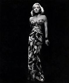 wehadfacesthen:  Marlene Dietrich, 1930s, in a gown by Travis Banton