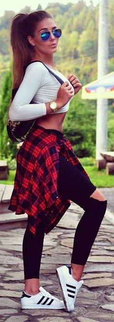Plaid Print Street Style Looks (19)