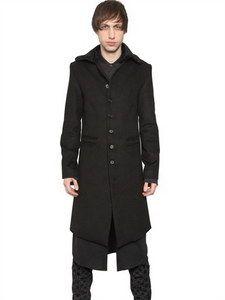 Ann Demeulemeester - Cotton Viscose Peach Cloth Coat | FashionJug.com