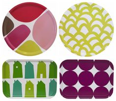 Birch trays by Camp Cirrus. Love the colors!