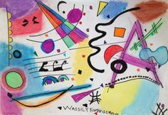 Kandinsky for kids, a great class to introduce abstraction and music in paiting