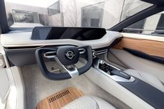 Inside, there's a massive, horizontal display that consolidates the driver's instrument and infotainment center.