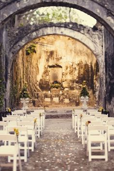 outdoor, country, garden, wedding, aisle, decor,