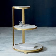 Round Tiered Side Table #westelm