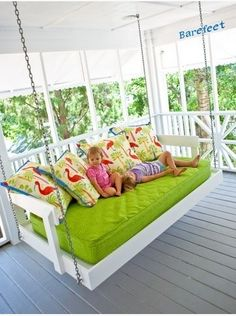 Swing/bed on the porch