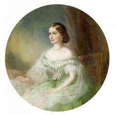 Portrait of an unknown woman by Franz Xaver Winterhalter