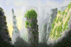Zhangjiajie, China Sky People, Zhangjiajie, China, Painting, Art, Art Background, Painting Art, Kunst, Paintings