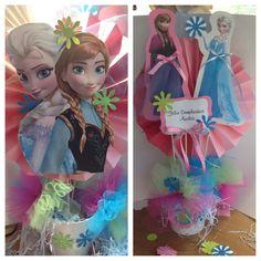 Elsa & Anna centerpiece