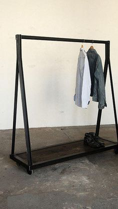 A-frame clothes rack