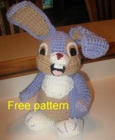 Bunny free crochet pattern by KristieMN on Crochetville