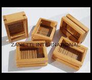 Set of 5 Dollhouse Miniature Wooden Crates $4.85