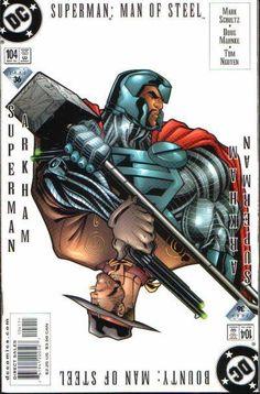 Superman: The Man of Steel - John Henry Irons Vs. : Four of 5 (Issue) Superman Comic Books, Superman Art, Superman Family, Superman Man Of Steel, Dc Comic Books, Comic Book Covers, Comic Art, Batman, Steel Dc Comics