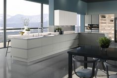 View our Milano Ultra Kitchen in Dove - Create the fitted kitchen of your dreams with Wren Kitchens. Wren Kitchen, Kitchen Jars, Buy Kitchen, Kitchen And Bath, Kitchen Ideas, Nice Kitchen, Kitchen Sinks, Kitchen Inspiration, Kitchen Cabinets