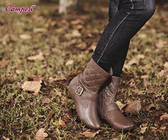 Prepare-se para o frio e dias chuvosos com uma botinha que é conforto e puro estilo! #confortoCampesí