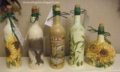 Elves Crafts Gallery: Glass bottles - decoupage800 x 483 | 137.5KB | elvescraftsgallery.blogspot...