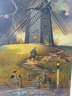 Wednesday Night Checkers, Charles Wysocki, Signed/# Print ~ Limited Edition, Vintage Lithograph, Numbered Lithograph, Windmill Lithograph