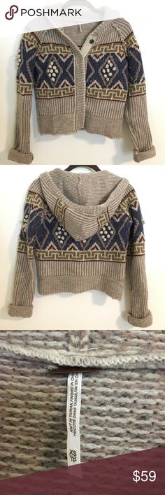 SOLD Free People Cropped Fair Isle Sweater | Fair isles, Free ...