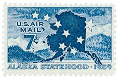 sc alaska old airmail us/usa stamp mint og nh mnh vf Alaska, Old Stamps, Stamp Collecting, Postage Stamps, Poster, Flag, United States, History, Airmail