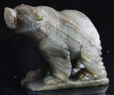 Labradorite Bear Carving  Labradorite is a cool grey colour shot through with flashes of iridescent green gold and blue A stone that is useful in times of transformation    http://www.ksccrystals.com/labradorite-bear-3-14052-p.asp
