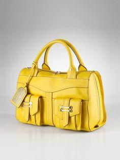 Bolso amarillo canario de Ralph Lauren.