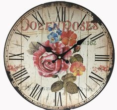 """13"""" Rose Wall Clock"""