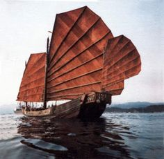 images of junks and sanpans   junks in the morning, Chinese junk