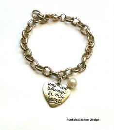 """Armband """"you are always in my heart"""""""