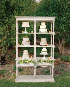 Bookshelf cake display