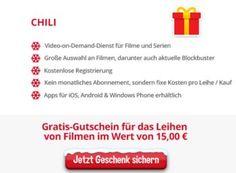 """Gratis: 15 Euro Video-Guthaben bei Chili.tv via Heise-Adventskalender https://www.discountfan.de/artikel/technik_und_haushalt/gratis-15-euro-video-guthaben-bei-chili-tv-via-heise-adventskalender.php Im zweiten Türchen des Adventskalenders von Heise verbirgt sich ein Leckerbissen für alle Cineasten: Discountfans können sich ein Guthaben in Höhe von 15 Euro bei """"Chili.tv"""" sichern. Mit weiteren Kosten oder Abogebühren ist das VoD-Angebot nicht verbunden. Grati"""