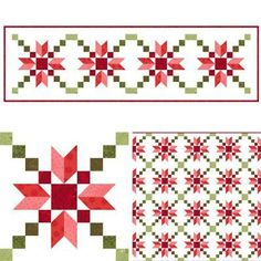 At the Let's Bee Social this last week, I shared a mock up of the Stepping Stones block in red and green. And that was it,.... I just had to make one two! I was so inspired while playing around on m