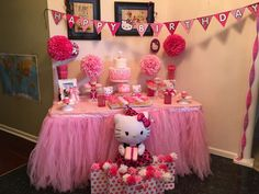 Lydia's Hello Kitty 3rd Birthday Party! See more party ideas at CatchMyParty.com