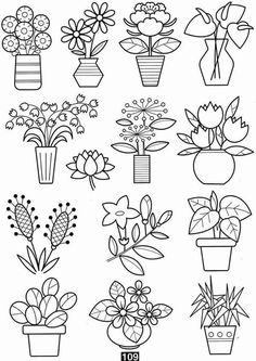 Photo by Patrones. - Doodles - Home Doodle Art, Doodle Drawings, Easy Drawings, Small Doodle, Colouring Pages, Coloring Books, Plant Drawing, Drawing Flowers, Flower Doodles