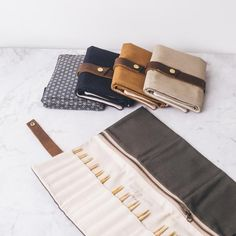 Twig & Horn canvas Interchangeable Knitting Needle case