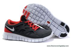 New Nike Free Run 2 Size 12 Anthracite White Black Sport Red 443815-006