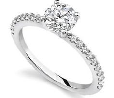 white gold engagment rings