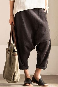 Black Art Causal Cotton Linen Trousers Women Clothes K2237A Clothes will not shrink,loose Cotton fabric, soft to the touch. *Care: hand wash or machine wash gentle, best to lay flat to dry. *Material: