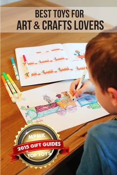 MPMK Toy Gift Guide: best art supplies for kids for open-ended creativity - all great to have on hand for a rainy day! Wonderful age recommendations and detailed descriptions here.