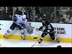 Dustin Brown goal. Vancouver Canucks vs LA Kings 4/15/12 NHL Hockey
