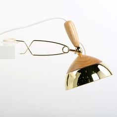 Modal Lamp by Studio McKenzie-Veal for Fab made form ash and brass.